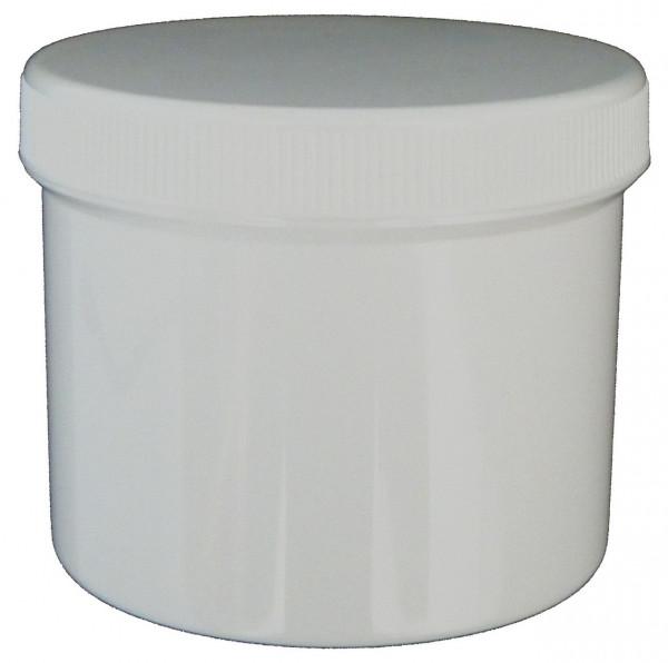 Plastikdose leer weiß