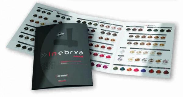 Inebrya Farbe Farbkarte gedruckt