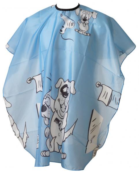Umhang Kinder 14 - Hund blau