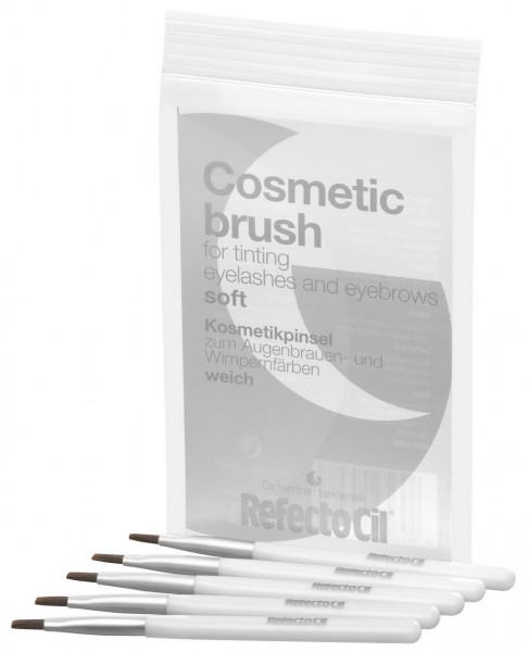 RefectoCil Kosmetik Pinsel weich silber