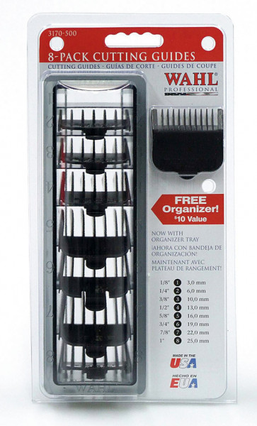 Wahl Aufsatz Set 8 Kämme - schwarz 3-25mm