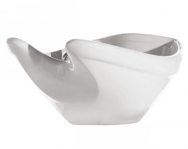 Waschbecken Schale weiß + Kippmechanik