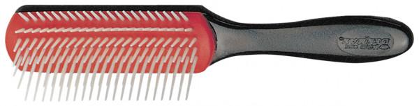 Bürste 072a Denman D3 -7-reihig,eng,schwarz/rot