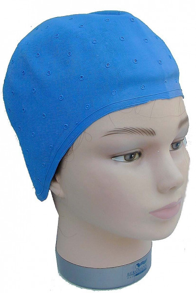 Meschenhaube blau