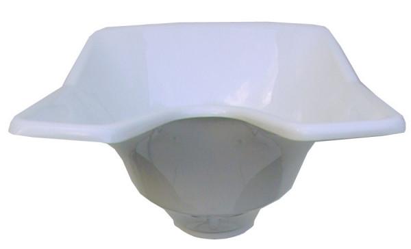 Waschbecken Schale weiß