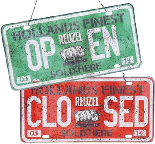 Reuzel Open/Closed Schild