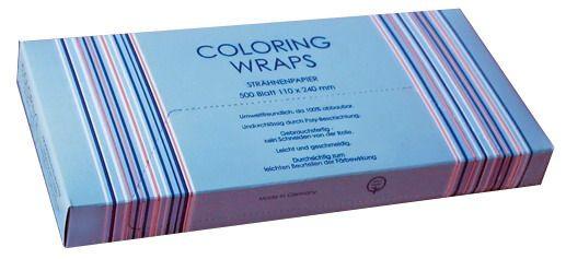 Strähnenpapier Color.Wraps gr. 11x24cm